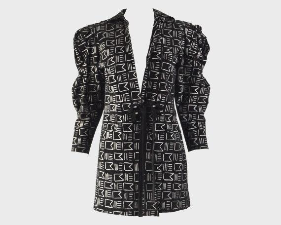 80s JEAN MUIR Black Suede Jacket Mini Length Coat