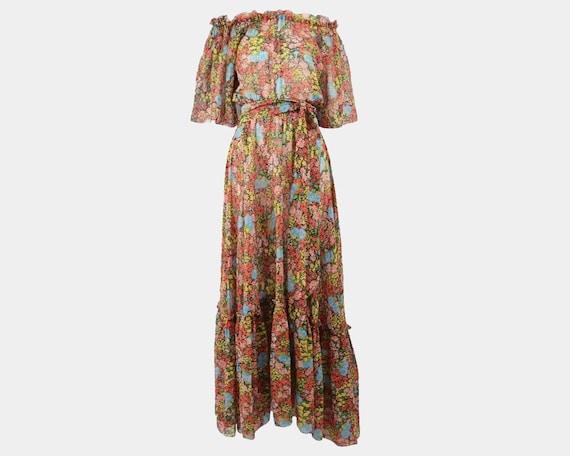 Vintage 70s ANNACAT Dress Carnaby Street Bohemian
