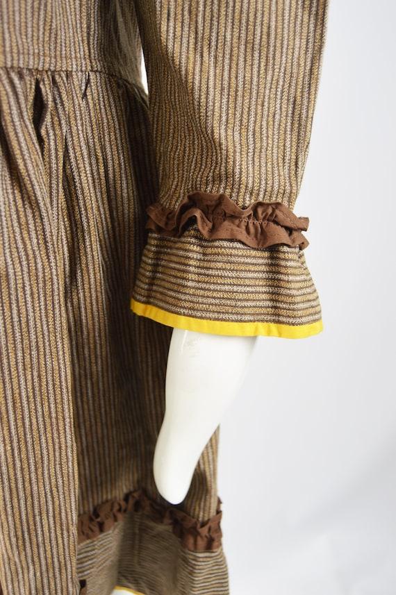 KENZO Dress Cottagecore Dress Brown Corduroy Yell… - image 5