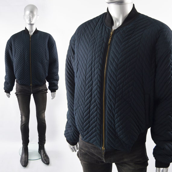 80s Mens Puffer Jacket Quilted Jacket Quilted Bomb