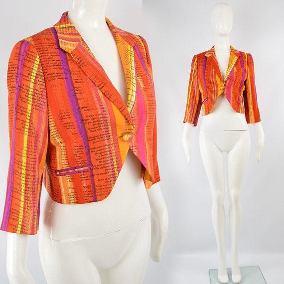 MOSCHINO Jacket Cropped Blazer Women Crop Rainbow