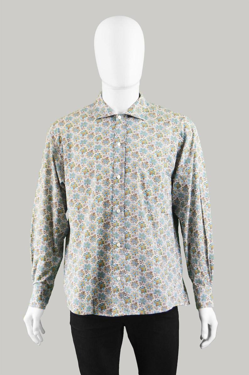 eebba920 Vintage 90s KENZO Mens Floral Print Shirt Gents Flower Pattern   Etsy