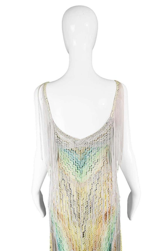 MISSONI Dress Long Fringe Dress Tassel Dress Boho… - image 7