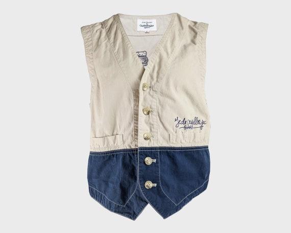 CASTELBAJAC Embroidered Mens Fishing Vest Sleevele