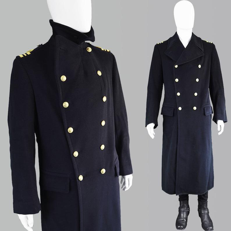 d11e513d2ae Vintage GIEVES Naval Coat 1940s Military Coat Nautical Coat