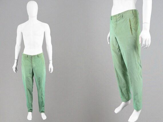 Vintage 90s ROMEO GIGLI Men's Cord Pants Mens Gree