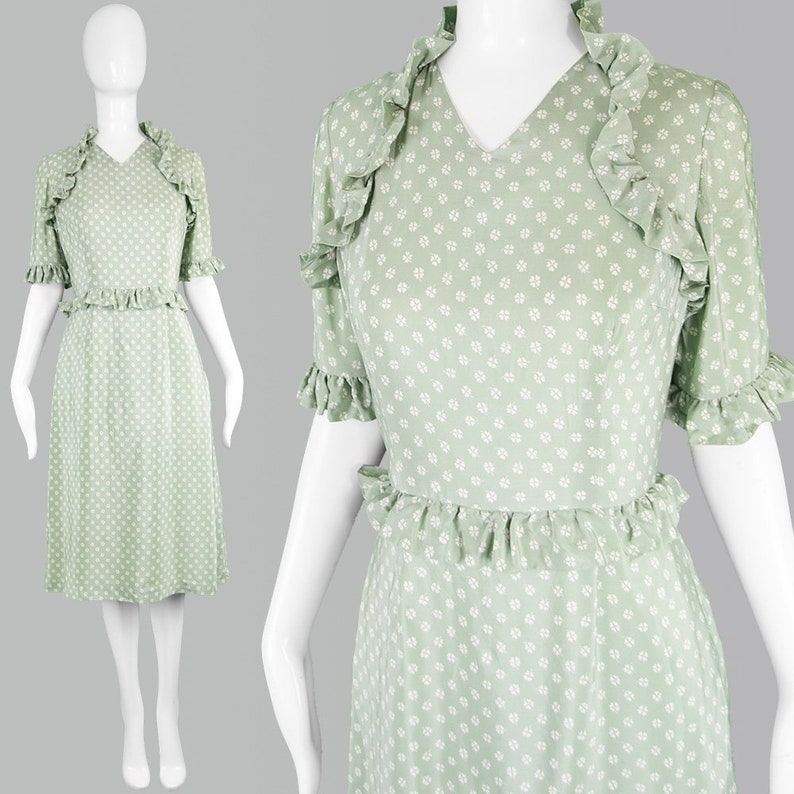 c3181e3b Vintage 80s IAN THOMAS British Couture Dress Silk Tea Dress   Etsy