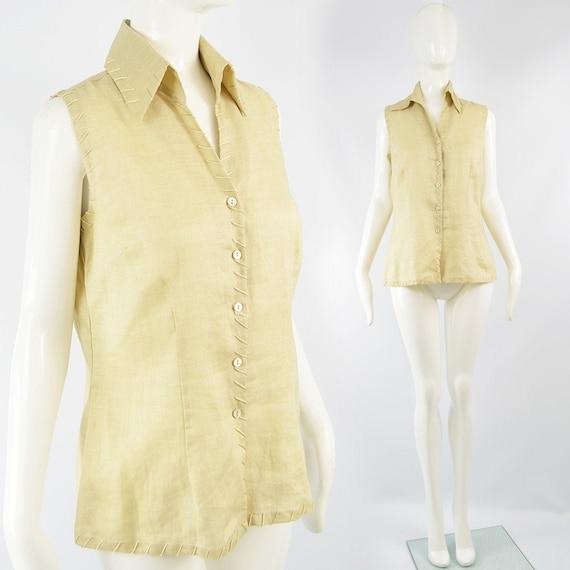 Vintage KATHARINE HAMNETT Fine Linen Shirt Summer