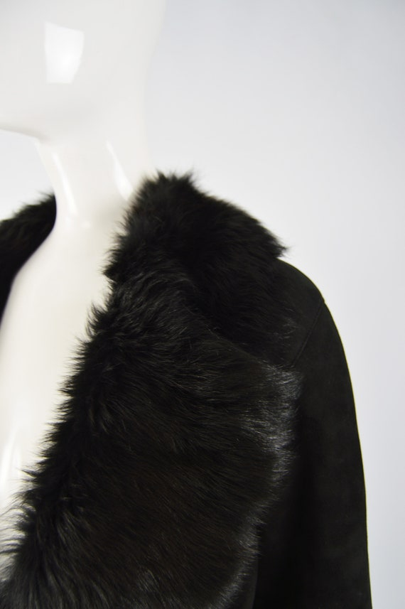 MICHAEL HOBAN Toscana Shearling Coat Black Sheeps… - image 4