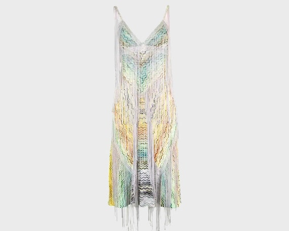 MISSONI Dress Long Fringe Dress Tassel Dress Boho… - image 1