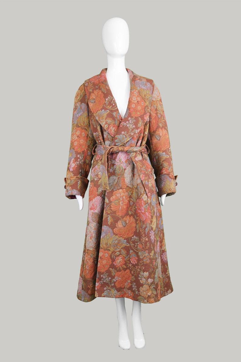 2c97413f50a Vintage 90s KENZO Floral Maxi Coat Tapestry Coat Women Long