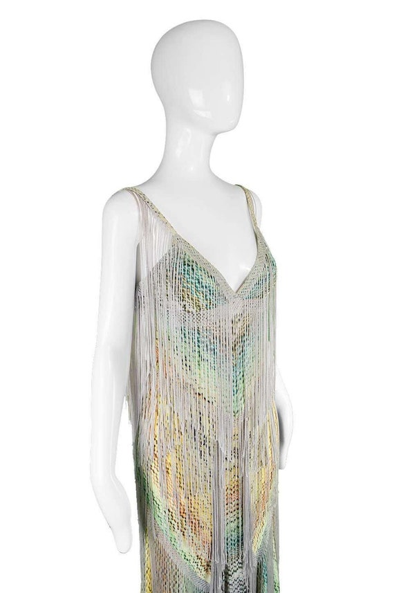MISSONI Dress Long Fringe Dress Tassel Dress Boho… - image 5