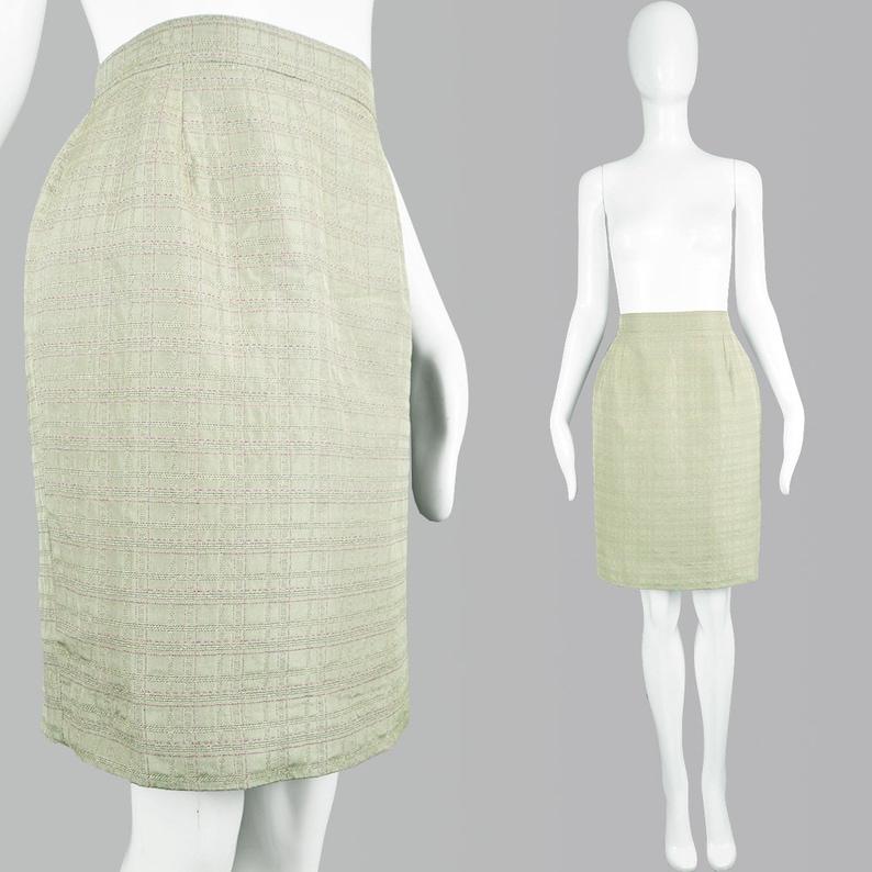 0f6119224aab2 Vintage CHRISTIAN LACROIX 90s Pencil Skirt Designer Skirt