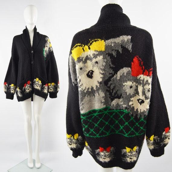CAROLINE CHARLES Hand Knit Cardigan Sweater Oversi