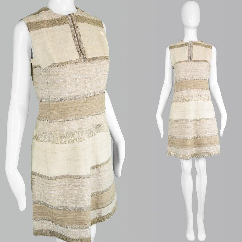 8412358bd6aa Vintage 60s Cocktail Dress Linen Dress Short Day Dress 1960s   Etsy