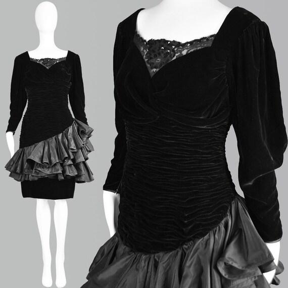 Vintage EMANUEL UNGARO Dress 80s Party Dress S Vel