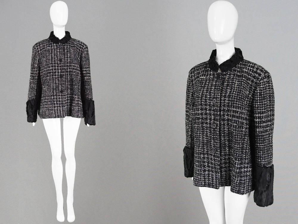 e49ff2af306 Vintage GIANFRANCO FERRE Boucle Tweed Jacket Womens Blazer