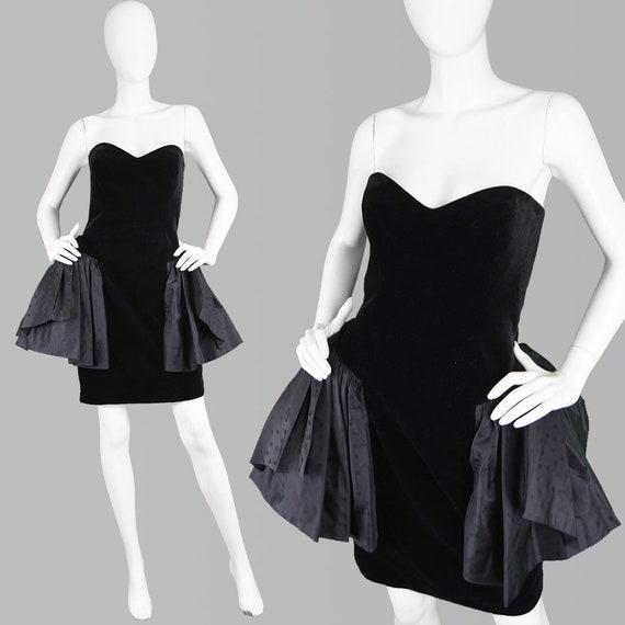Jahrgang GINA FRATINI 80er Jahre trägerlosen Kleid samt Party | Etsy