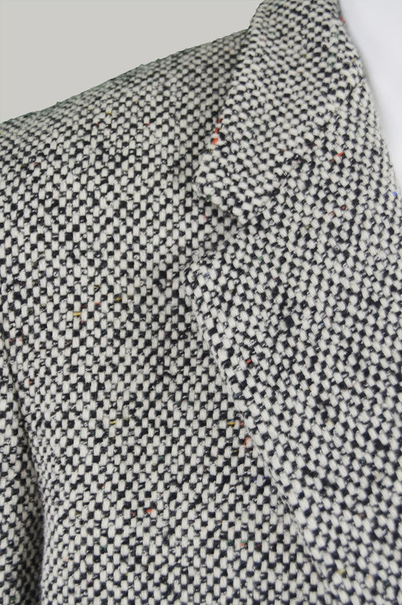 Vintage GIANNI VERSACE Mens Tweed Blazer Tweed grigio giacca uomo lana Blazer Tweed Sportcoat Gents Sport cappotto giacca Designer italiano singolo