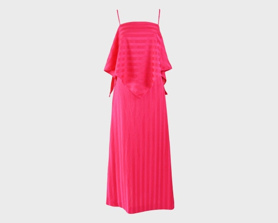 70s Evening Gown Fredericks of Hollywood Long Pink