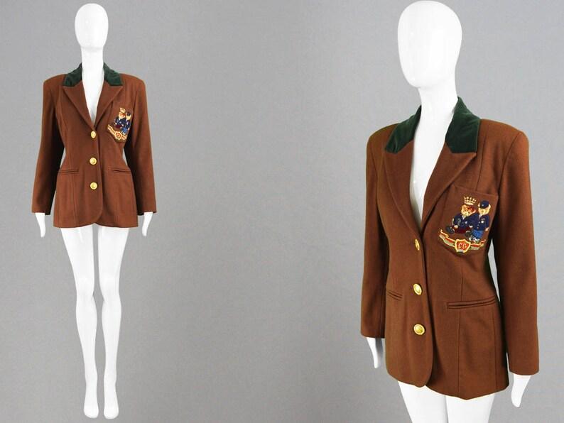 d6d15dfd8f Vintage 90s Wool   Cashmere Jacket Women s Blazer Jacket