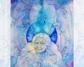Ancestral Healing Wisdom Shamanic A4 Art Print
