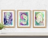 Earth Element Zodiac Goddess Print Set
