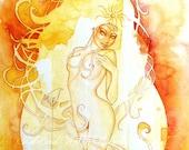 Leo Zodiac Goddess Art Print / A4