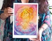 Soul Sister Awakening Art Print / A4