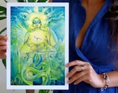 Shamanic Earth Goddess Art Print