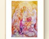Empowered Women Sisterhood Art Print / A4
