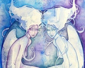 Gemini Zodiac Goddess Art Print