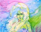 Feather Medicine  Goddess Art Print / A4