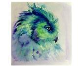 Eagle Owl Art Print, Wate...