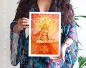 Shamanic Chakra Goddess Art / Sacred Red Root Chakra