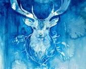 Stag Spirit Animal Art Print / A3