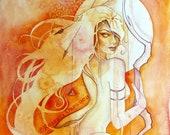 Sagittarius Zodiac Goddess Art Print / A4
