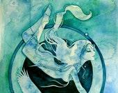 Scorpio Zodiac Goddess Art Print