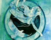 Scorpio Zodiac Goddess Art Print / A4
