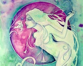 Virgo Zodiac Goddess Art Print