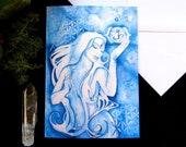 Third Eye Chakra Goddess Greeting Card Set of 3