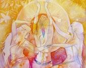 Empowered Women Sisterhood Art Print / A3