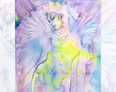 Angel Watercolor Art Print
