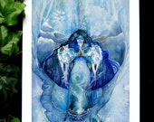Spirit Animal Wolf Goddess Art Print - A3