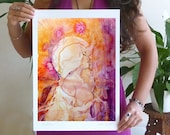 Twin Flame Lovers Art Print / A3