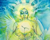 Shamanic Earth Goddess Art Print / A3
