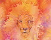 Lion Spirit Animal Art Print / A3