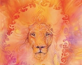 Lion Spirit Animal Art Print