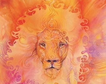 Lion Spirit Animal Art Print / A3