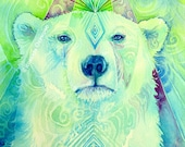 Polar Bear Spirit Animal Art Print / A3